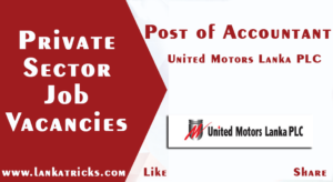 Accountant - United Motors Lanka PLC