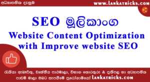 Website Content Optimization with Improve website SEO