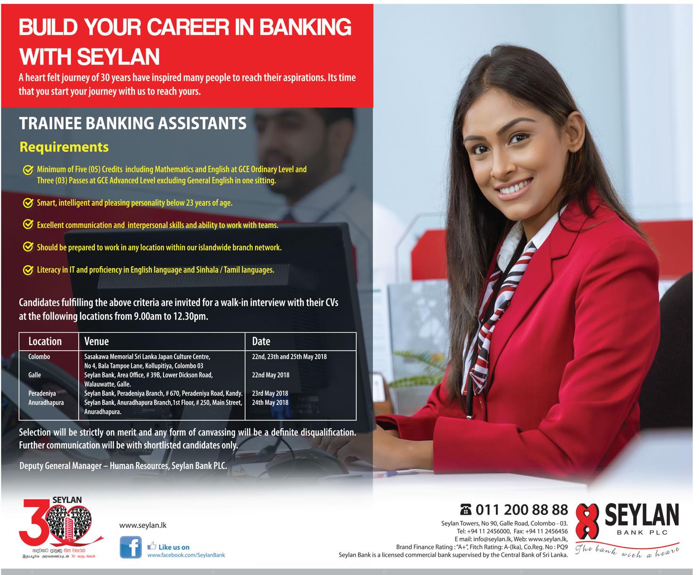 Banking Assistants Job Vacancy