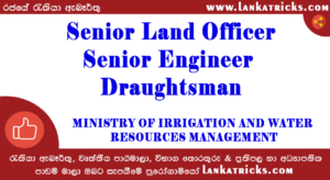 Senior Land Officer , Senior Engineer , Draughtsman Job Vacancy