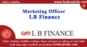 Marketing Officer Job Vacancy in LB Finance
