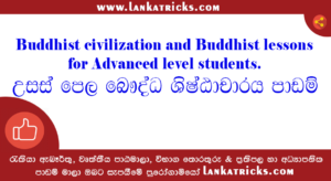 Buddhist civilization lessons for Advanced level students
