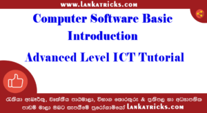 Computer Software Basic Introduction - Advanced Level ICT Tutorial