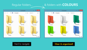 Assign color to any folder - Folder Colorizer Software