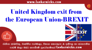 United Kingdom exit from the European Union-BREXIT