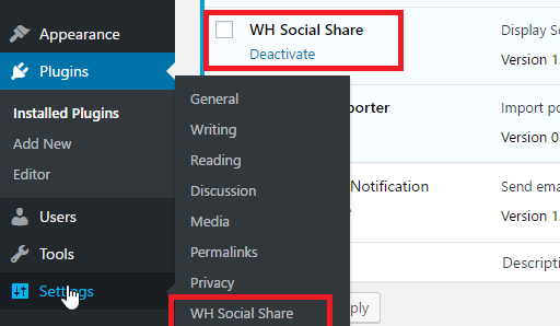 WH social Share