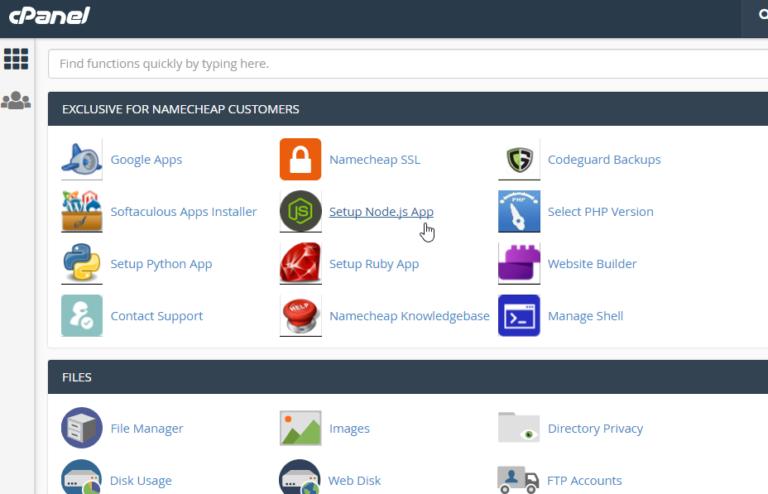Installing WordPress CMS for your website. - Namecheap.com C panel Interface
