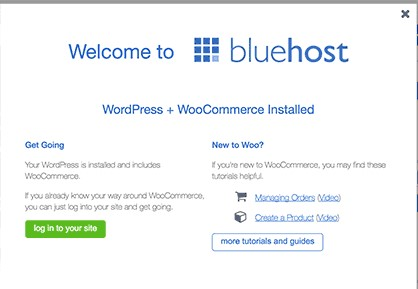 Install woocommece to bluehost