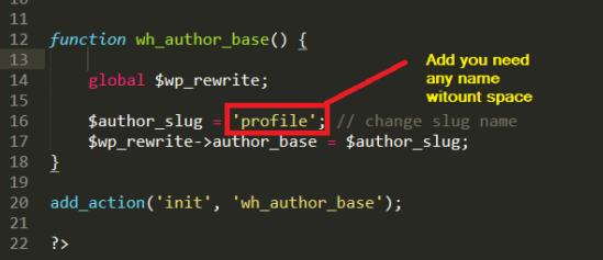 Make a simple plugin to change author slug